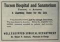 "Tucson Hospital and Sanatorium (""American medical directory"", 1906 advert).png"