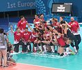 Turkey women's volleyball are the winners of the 2015 European Games.jpg