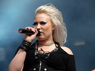 Battle Beast (band) - Noora Louhimo at Tuska Open Air 2013