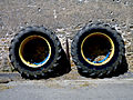 Two tractor tyres at a wall.jpg