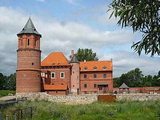 Tykocin Castle - Reconstructed west wing of the castle.