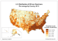 U.S. Distribution of African Americans, Percentage by County, 2010.png