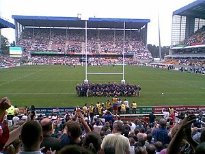 United States at the Rugby World Cup - The United States squad ahead of the 2007 Rugby World Cup match with England at Stade Félix-Bollaert.