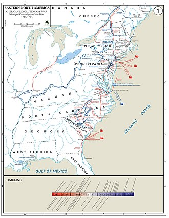American Revolutionary War - Major Campaigns of the American Revolutionary War.