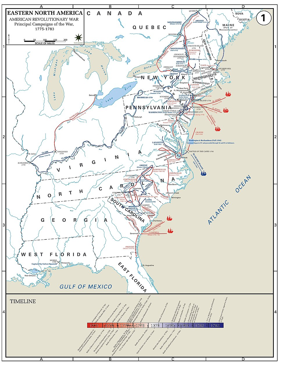 USMA01 Major Campaigns of the American Revolutionary War