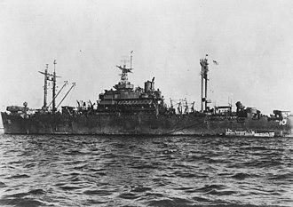 USS Auburn (AGC-10) - Image: USS Auburn (AGC 10) at Manila Bay in 1945