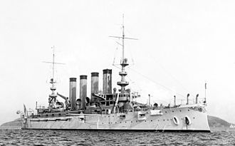 USS California (ACR-6) - 1907 view