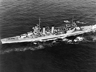 USS Quincy (CA-39) - Image: USS Quincy (CA 39) underway in May 1940
