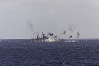 USS Reeves (CG-24) is sunk as a target ship off the coast of Queensland, Australia, on 31 May 2001