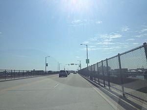 Harry W. Kelley Memorial Bridge - Eastbound across the bridge