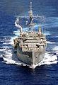 US Navy 030127-N-1352S-034 An aerial photo of the amphibious transport ship USS Dubuque (LPD 8).jpg