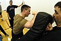 US Navy 040224-N-6477M-014 Lt. Matt Ludwig practices an elbow strike during an Anti-Terrorist Ship Board Basic Instructor class.jpg