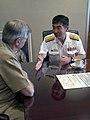 US Navy 040517-N-3925A-001 ear Adm. Yukinori Togo, Commander Japanese Maritime Self Defense Force (JMSDF) Training Squadron, right, meets with Vice Adm. Mike McCabe, Commander Third Fleet.jpg
