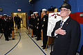US Navy 070323-N-3642E-366 U.S. Navy veteran Paul E. Baker, renders honors during arrival of the Secretary of the Navy (SECNAV), the Honorable Dr. Donald C. Winter.jpg