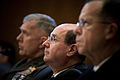 US Navy 070328-N-0696M-171 Secretary of the Navy (SECNAV), the Honorable Dr. Donald C. Winter is joined by Commandant of the Marine Corps Gen. James T. Conway and Chief of Naval Operations (CNO) Adm. Mike Mullen during testimon.jpg