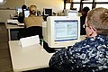 US Navy 100511-N-4995K-024 Sailors participate in a revised Yeoman and Personnel Specialists Advanced Administration Course at the Center for Service Support learning site.jpg