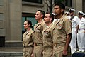 US Navy 110519-N-AD372-892 The Sailors of the year stand at attention before their meritorious advancement to chief petty officer.jpg