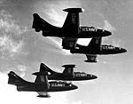 US Navy Blue Angels F9F-5 Panthers in flight on 9 January 1954.jpg