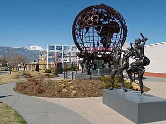 Competition - The United States Olympic Committee's headquarters in Colorado Springs, Colorado. The Olympic Games are regarded as the international pinnacle of sports competition.