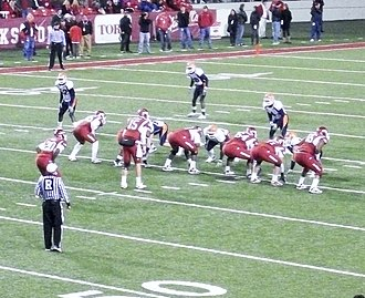 2010 Arkansas Razorbacks football team - Ronnie Wingo (20) stands behind Mallett in the pistol formation against the Miners.