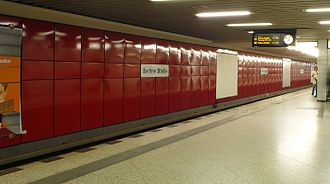 Berliner Straße (Berlin U-Bahn) - Platform of the U9