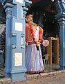 Udupi - Scenes of Sri Krishna Temple, dwarapalaka.jpg