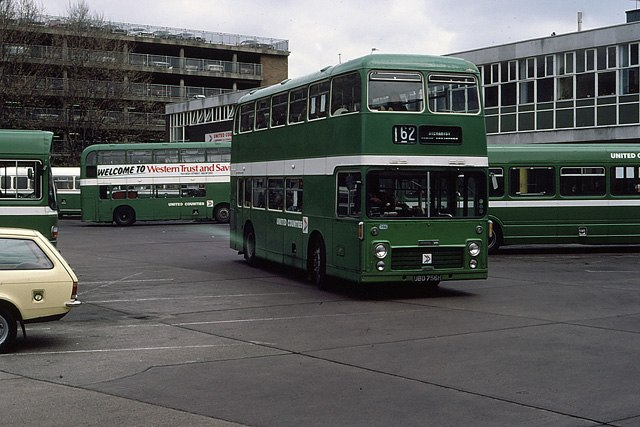 United Counties NBC bus 756 Bristol VR ECW UBD 756H in Bedford Bus Station, Bedfordshire May 1982