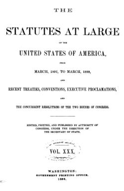United States Statutes at Large Volume 30.djvu