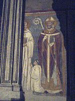 Unknown bishop, S. Benedict and small benedictian monk.jpg