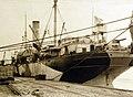 Unloading supplies from USS Ascutney, Russian Intervention, 1918-1920 (28037195395).jpg