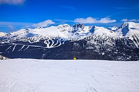 Upper portion of Blackcomb from Whistler (16152555252).jpg