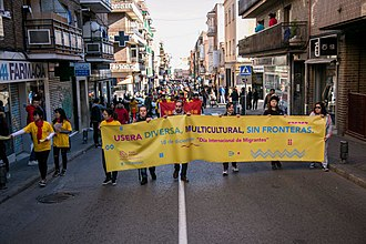 International Migrants Day - Celebrations of the 2017 International Migrants Day in Usera, a neighborhood of Madrid, Spain