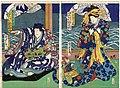 Utagawa Kunisada II - Actors Sawamura Tanosuke III as the Courtesan Takao and Sawamura Tosshô II as Sakingo Yorikane.jpg