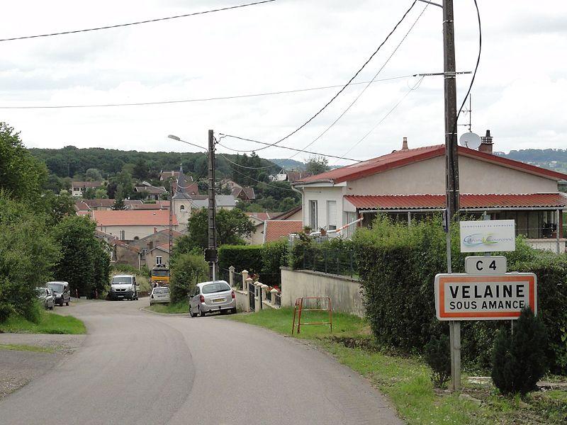 Vélaine-sous-Amance (M-et-M) city limit sign