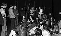 946c4b8705 A musical szereplői, középen az író, Déry Tibor, mellette a rendező, Marton  László (Vígszínház, 1973)