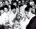 Věra Čáslavská and Josef Odložil marriage 1968.jpg