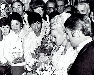 Věra Čáslavská - Čáslavská and Odložil are getting married in Mexico City on 26 October 1968