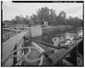 VIEW SOUTH, Waste weir at Lock 5 - Kaukauna Lock and Dam, Fox River at Canal Street, Kaukauna, Outagamie County, WI HAER WIS,44-KAUK,3-28.tif