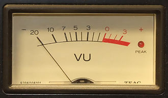 VU meter - An analog VU meter with peak LED
