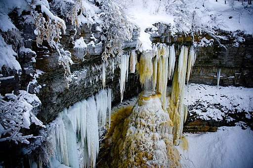 Valaste Frozen waterfall
