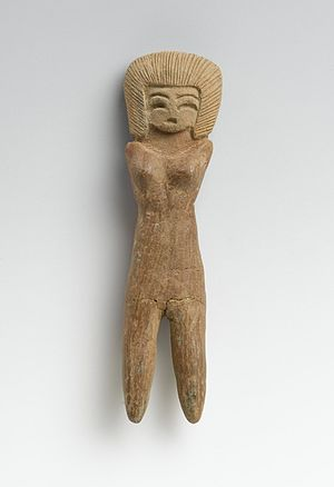 Valdivia culture - Ceramic female figurine from Valdivia 2600-1500 B.C.E. Brooklyn Museum