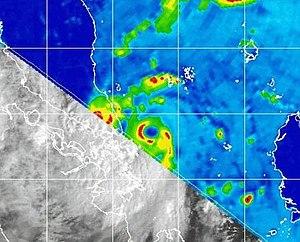 Tropical Storm Vamei - TRMM image of Vamei near landfall