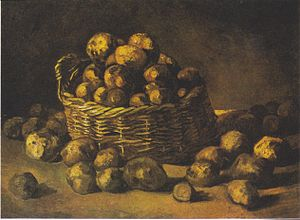 Still life paintings by Vincent van Gogh (Netherlands) - Baskets of Potatoes, 1885, Van Gogh Museum, Amsterdam (F100)