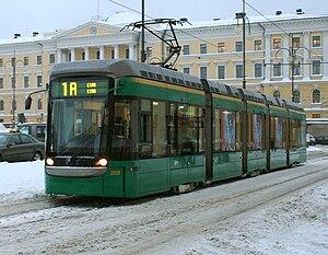 Helsinki tram - Variotram at Senaatintori