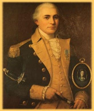 James Mitchell Varnum - General James Mitchell Varnum, wife Martha Child inset.