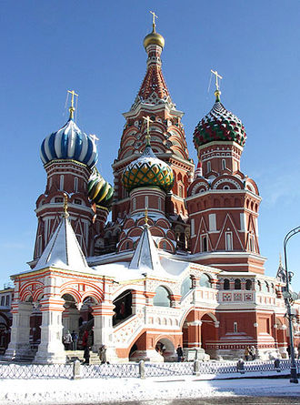 Basil Fool for Christ - The Intercession Cathedral in Moscow is named after the saint.