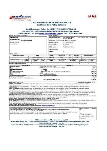 Vehicle Insurance Information Motor Insurance Car Bike