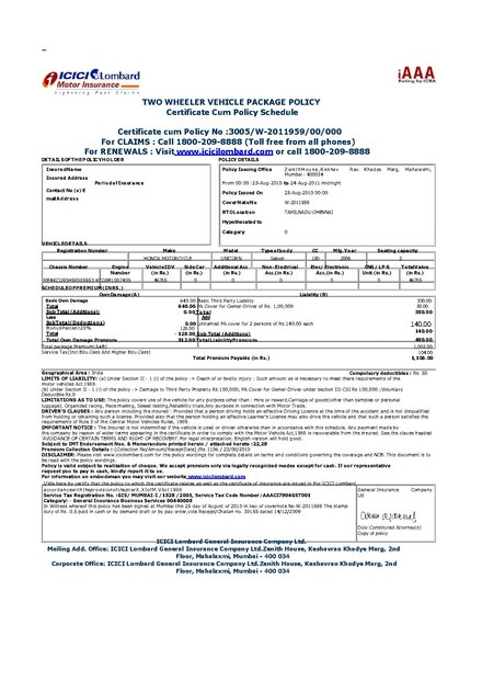 insurance cover note template  Vehicle insurance - Wikiwand