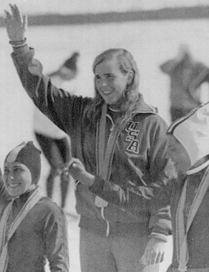 Anne Henning - Henning (center) at the 1972 Olympics