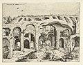 Vierde gezicht op het Colosseum te Rome Colossæi ro prospectvs (titel op object) Romeinse ruïnes (serietitel), RP-P-1882-A-6440.jpg